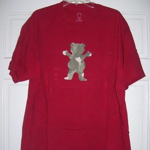 GRIZZLY Camo OG Bear T-Shirt in Red Size XL